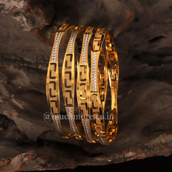 Exquisite Design Gold Polish Bangles