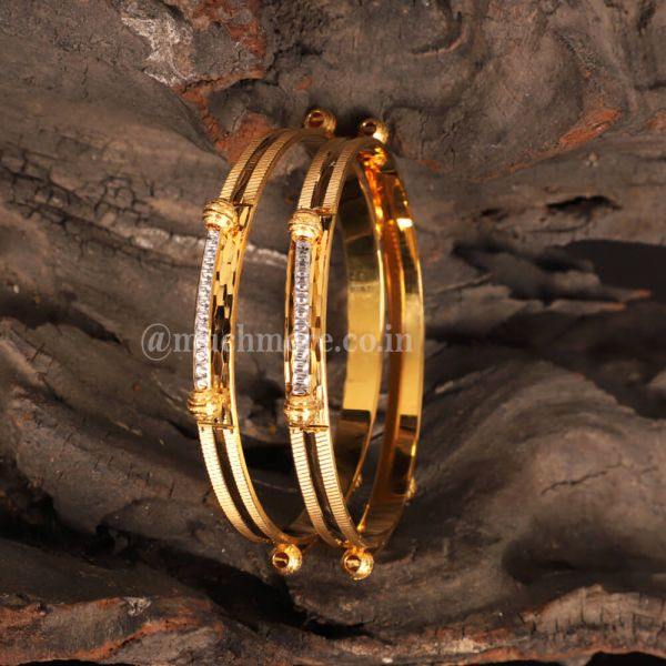 Latest Collection Of Silver Gold  Bangles