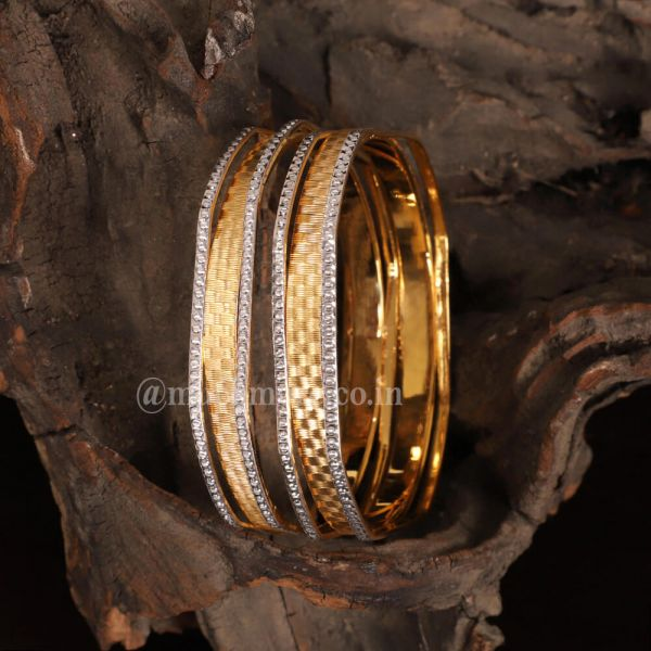 Gold Polish Bangle Sets For Your Ethnic Outfits