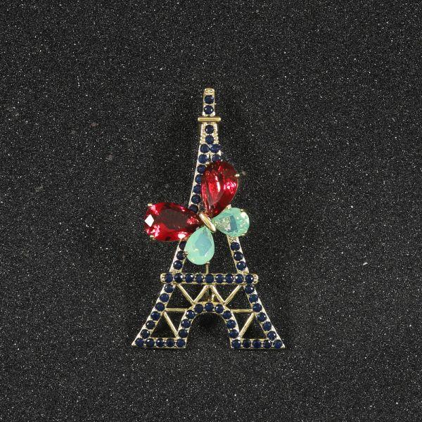 Fashion Eiffel Tower Sapphire Brooch
