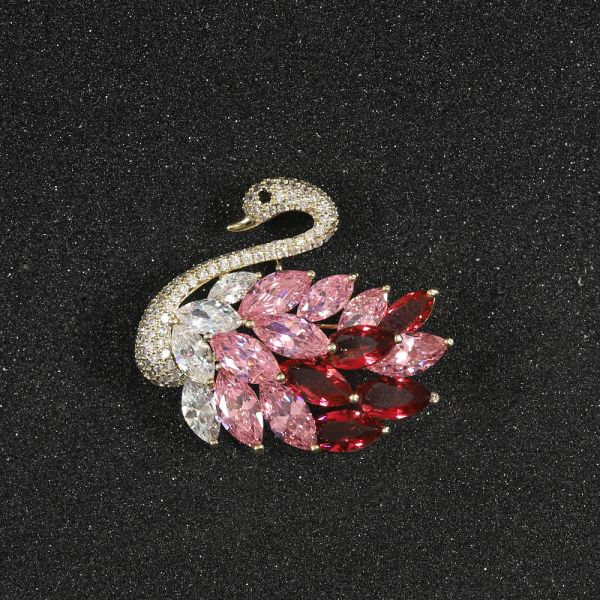 Fashion Zircon Sapphire Brooch