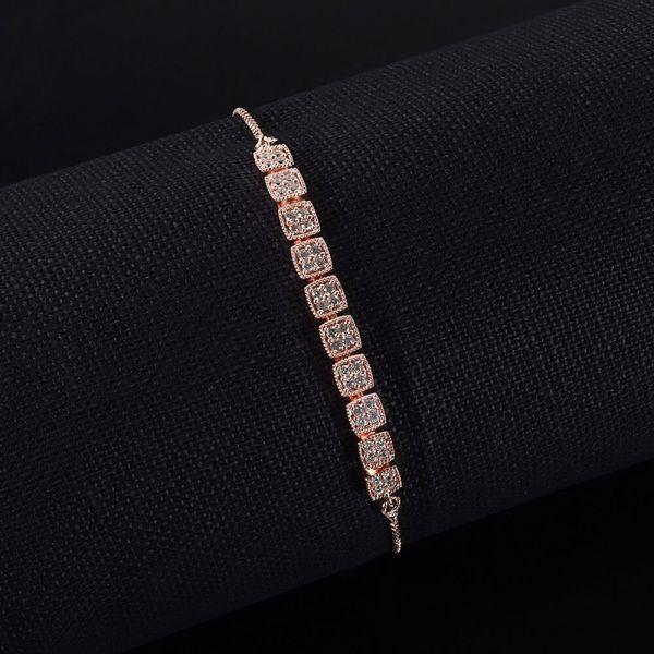 Rose Gold Polish Flexible Diamond Bracelet
