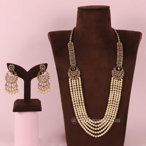 Elegant pearl Layered Necklace For Woman