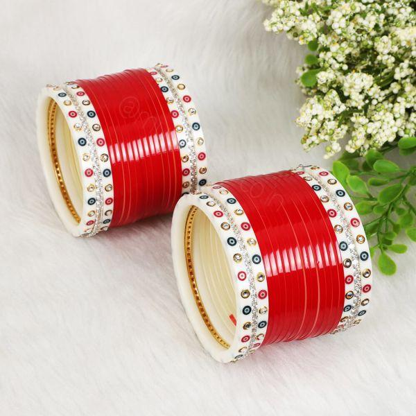 Bollywood Bridal Red Choora For Wedding