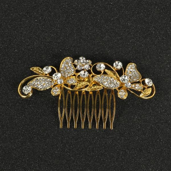 Silver Side Side Clip Hair Accessories