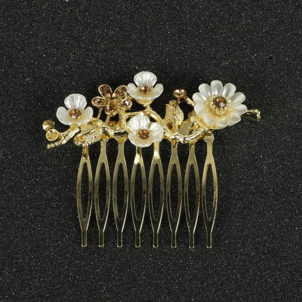 Gold Side Clip Hair Accessories