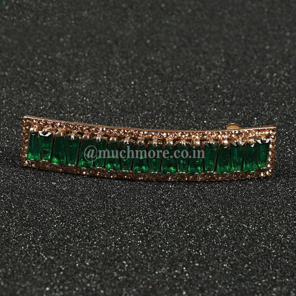 Diamond Studded Metal Hair Clutcher Clips For Women