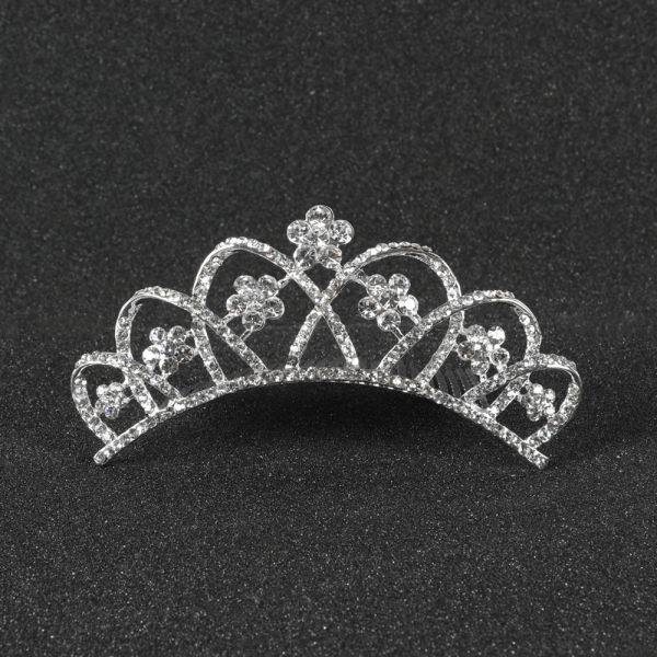 Silver Crown Hair Comb