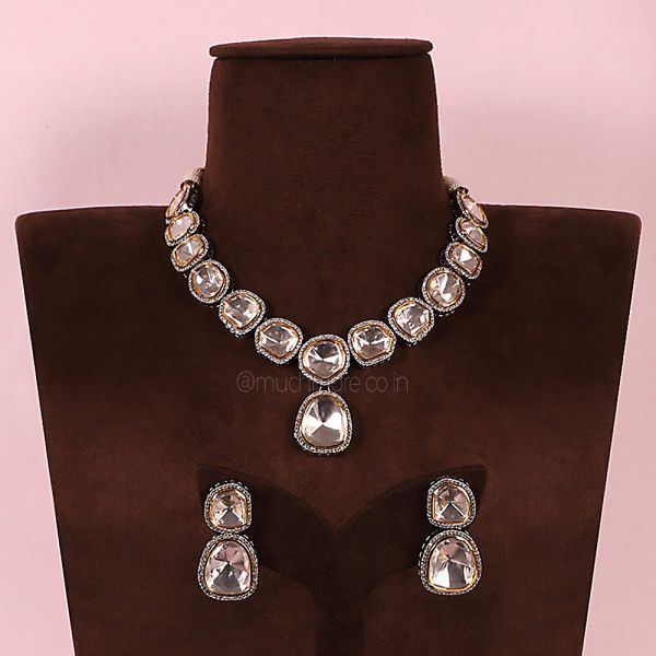 Big Uncut Kundan Diamond Necklace String