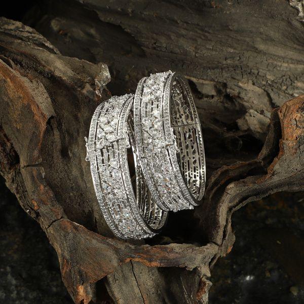 Diamond Zircon Bangle
