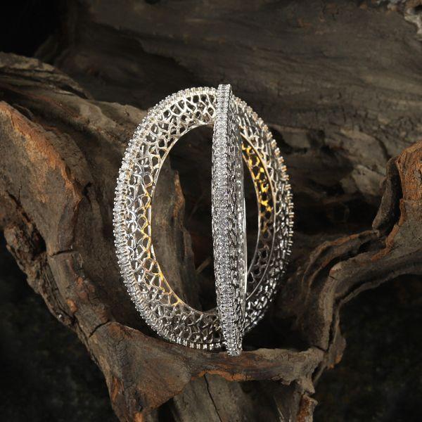 Diamond Zircon Pacheli Bangle