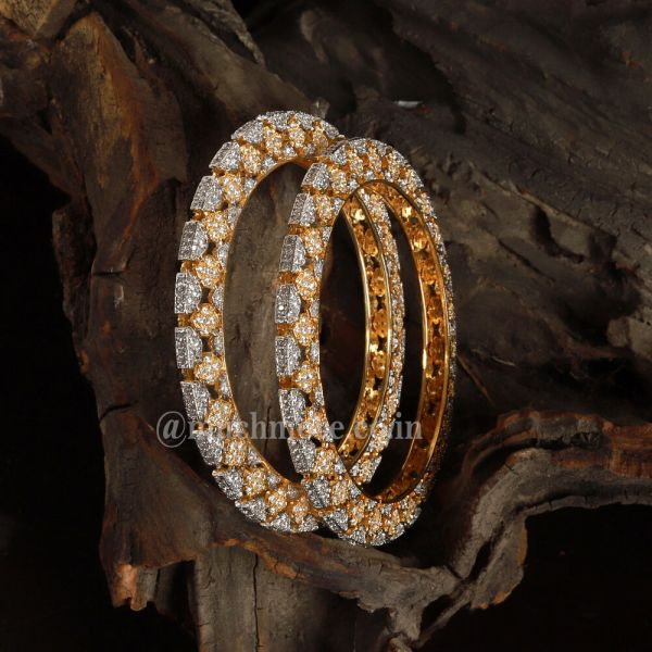 Silver Gold Diamond Traditional Finest Bangles