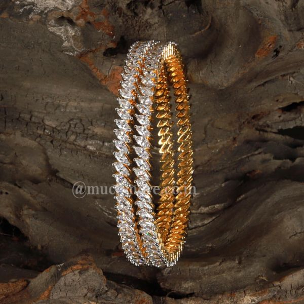 Indian Gold fancy filigree bangles(set of two)
