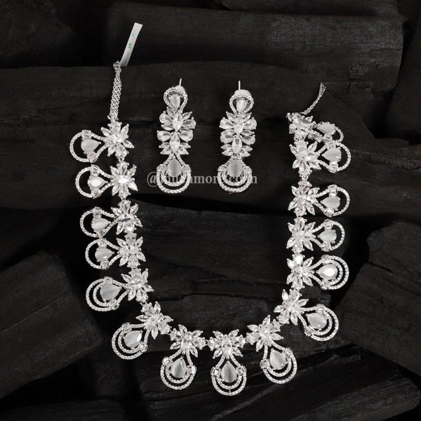 Set For Women American Diamond Combo of Necklace Set