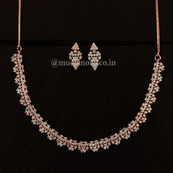 American Diamond Necklace Jewellery Set Online