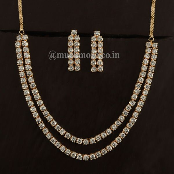 Exclusive & Designer Zircon Stone Necklaces For Girls