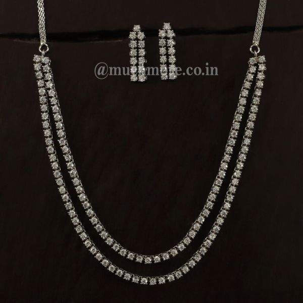 Exclusive & Designer Zircon Stone Necklaces For Girl