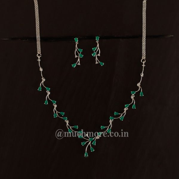 American Diamond Necklace Set For Girls And Women