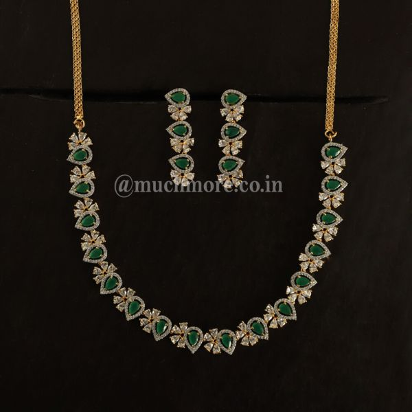 Ramona  Emerald Green Necklace Set
