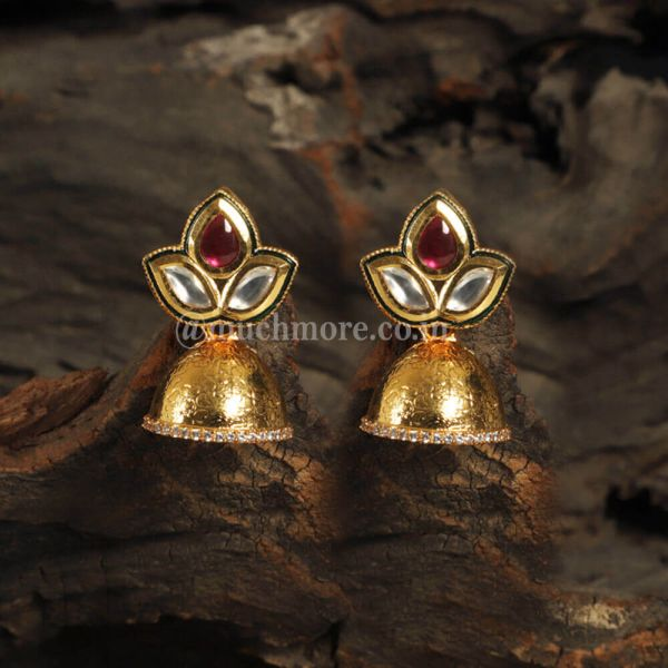 Small Ruby Kundan Jhumki Online