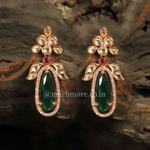 Exclusive Collection Of Big Emerald Green Earrings