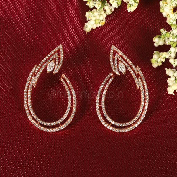 Stylish Western Diamond Earrings