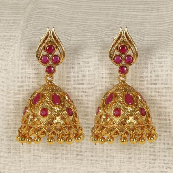 Ruby Color Exclusive jhumkas At Best Price