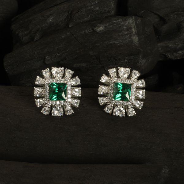 Diamond Zircon Green Tops
