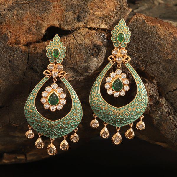 Kundan Mint Earring