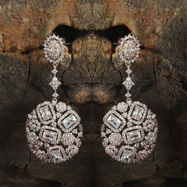 Rose Gold Diamond Earring
