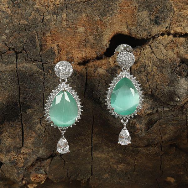 Mint Green Drop Earring