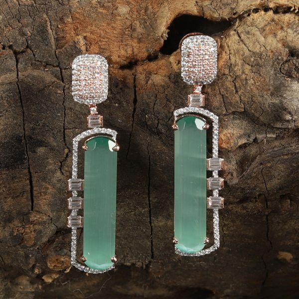 Mint Diamond Earring