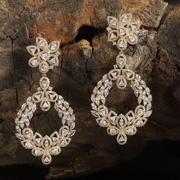 Golden Diamond Earring