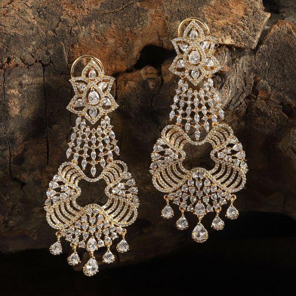 Latest Design Diamond Earrings