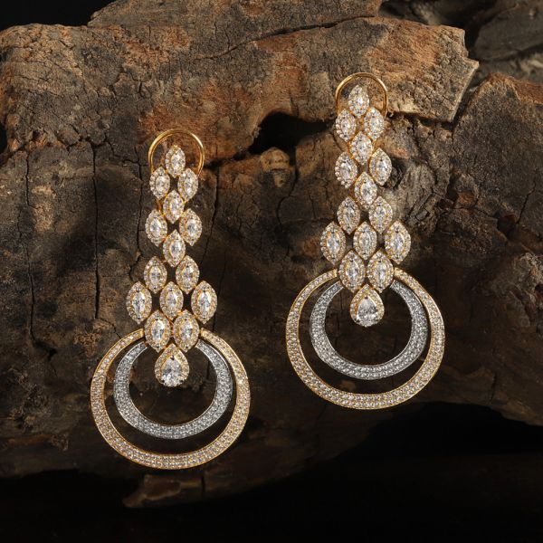 Diamond Zircon Earring
