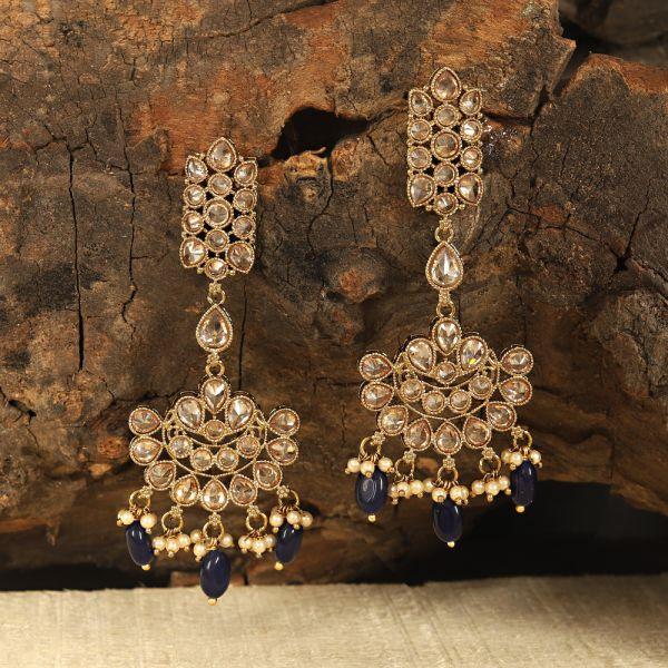 Antique Polki Sapphire Earring