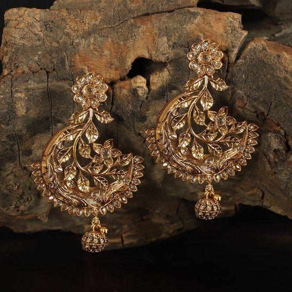 Antique Gold Polish Unique Earring