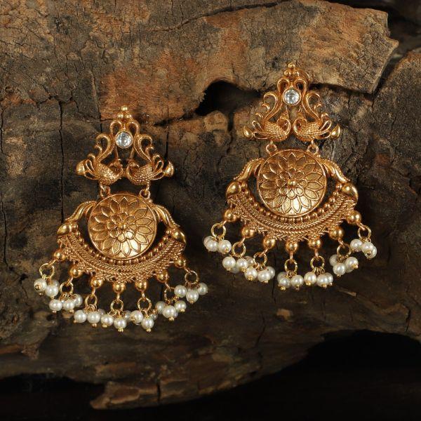 Morvi Antique Gold Tone Earrings