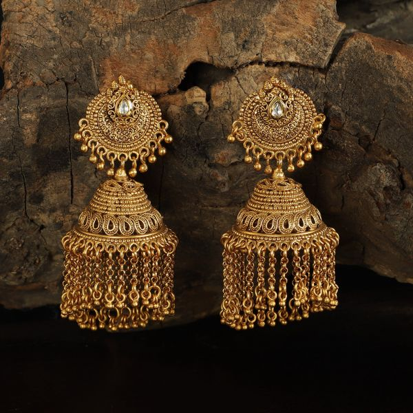 Gold Tone Traditional Jhumkas