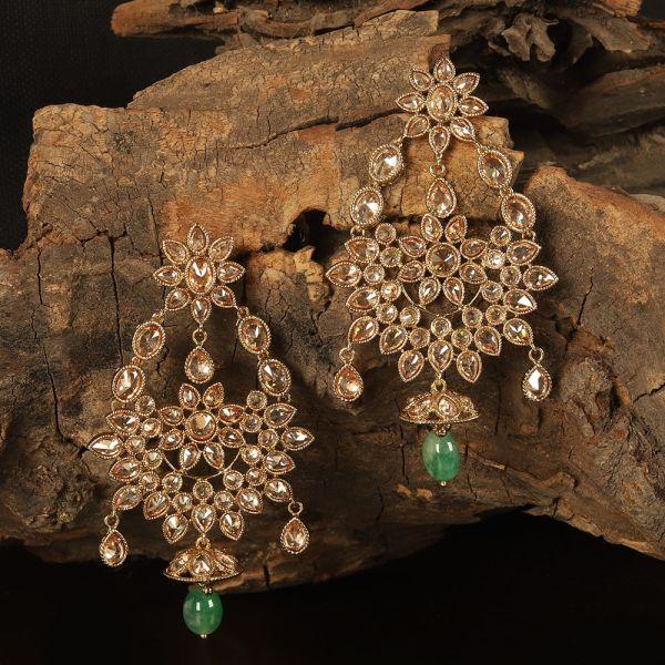 Designer Gold Tone Antique Earring