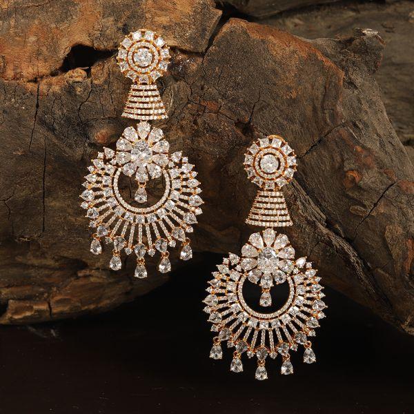 Diamond Zircon White Earring