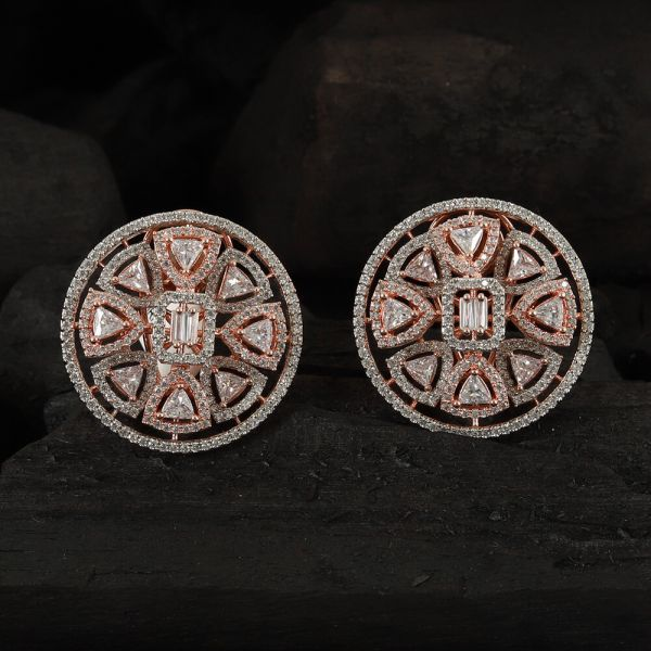 Rose Polish Round Small Earring Online
