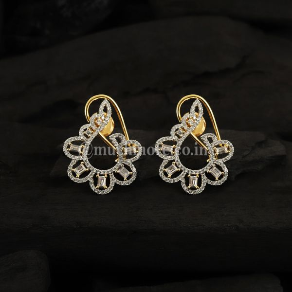 Gold Plated AD Studded Stylish Earrings