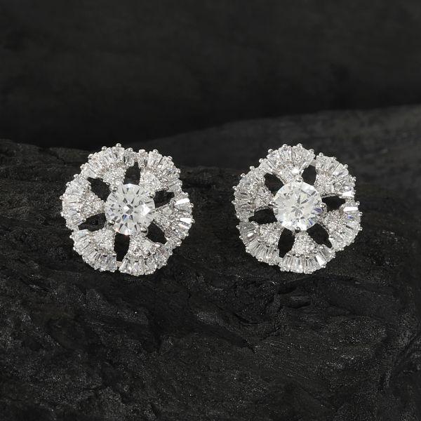 Silver Fashion Tops Earring