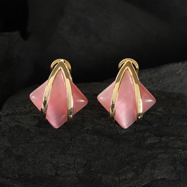 Pink Fashion Tops Earrings