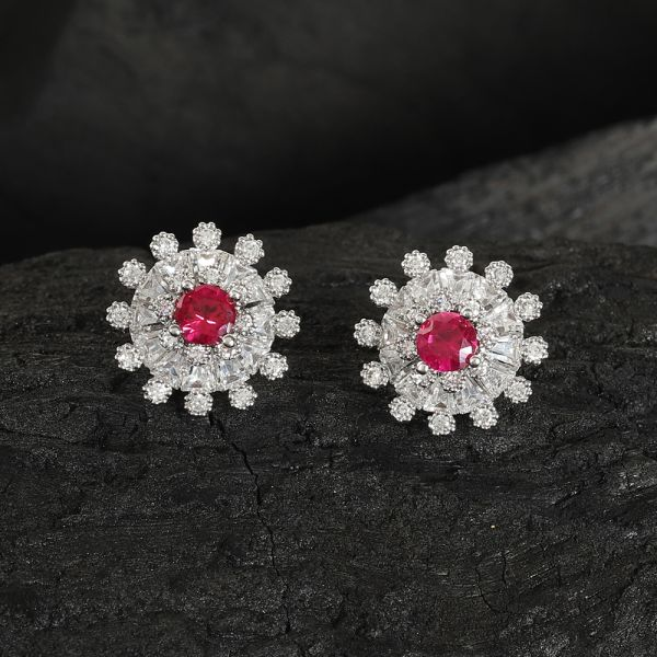 Ruby Fashion Tops Earring