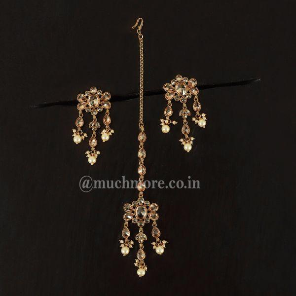 Simple And Beautiful Pearl Drop Earrings Tikka