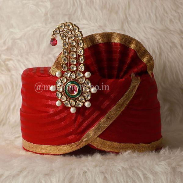 Dual Color Punjabi Grrom Kalgi Pin