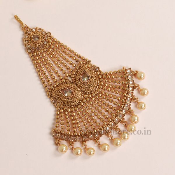 Pearl Dropping Big Side Jhoomar Paasa For Wedding
