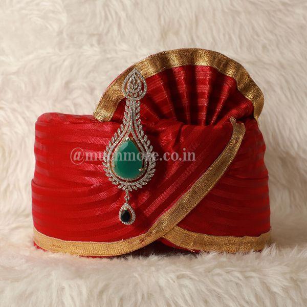 Bollywood Style Diamond Kalgi For Groom